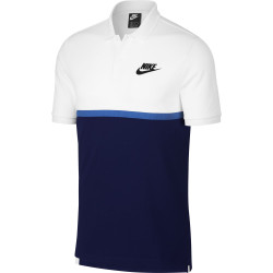 Nike Men's NSW Polo Matchup PQ NVLTY White-Blue Void-Signal Blue-Black