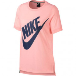 Nike Women's NSW Top SS Prep Ftutura Storm Pink-Blue Void