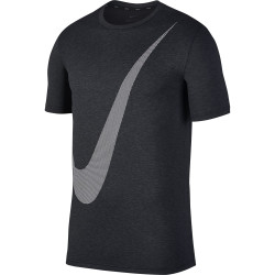Nike Men's Breath Top Hyper Dry Logo Black-Anthricite-White
