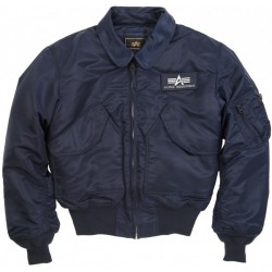 Alpha Flight Jacket CWU45 Replica Blue