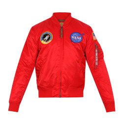 Alpha Industries Nasa MA-1 VF Camo Lining - Red