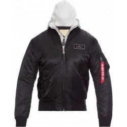 Alpha MA-1 Dtec Hooded - Black