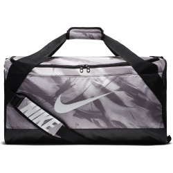 Nike Brasilia M Duffel AOP Atmosphere Grey-Black-White