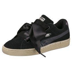 Puma Women's Suede Heart Safari Black