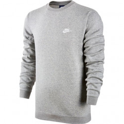 Nike Men's NSW Club Crew BB Dark Grey Heather-White