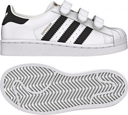Adidas Boy's Superstar White-Black