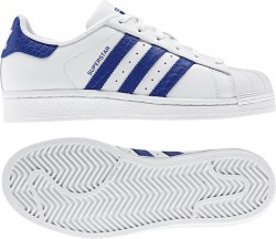 Adidas Youth Superstar White-Blue