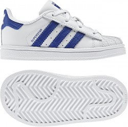 Adidas Infant's Superstar White-Blue